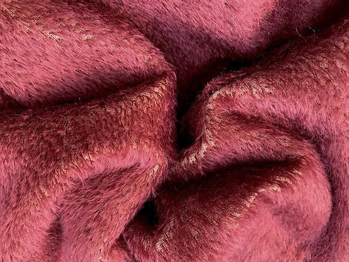 Mohair Fabric 10mm Mulled Red