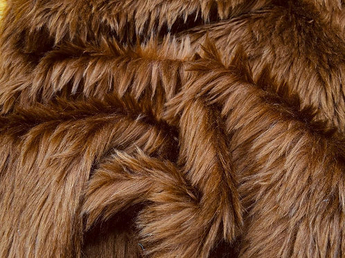 Mohair Fabric 35mm Silken Chestnut