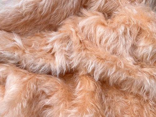 Mohair Fabric 35mm Silken Apricot