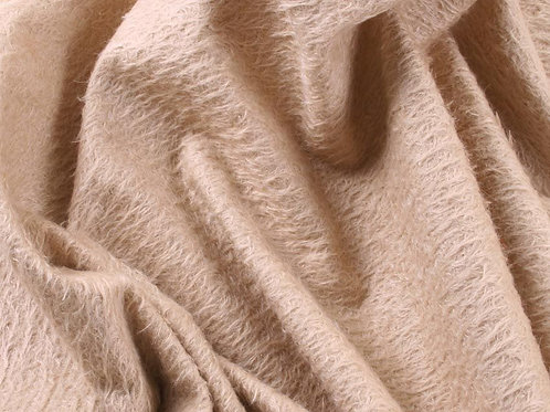Mohair Fabric 11mm Felted Blush Fawn