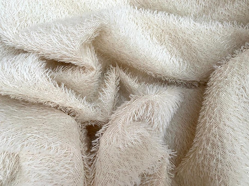 Mohair Fabric 12mm Ivory Loom-state