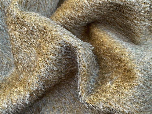 Mohair Fabric 10mm Canary Yellow