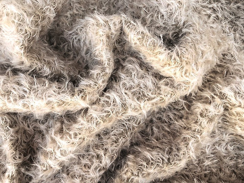 Mohair Fabric 20mm Biscuit Beige