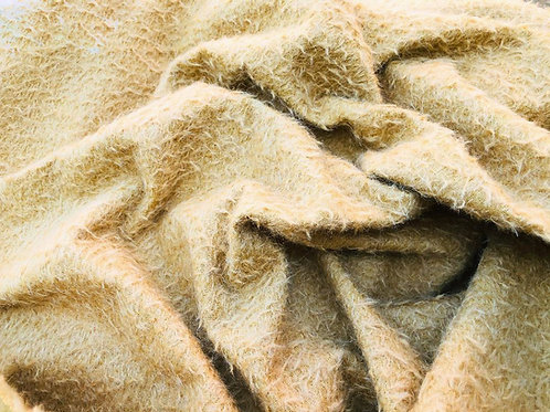 Mohair Fabric 9mm Yellow Gold