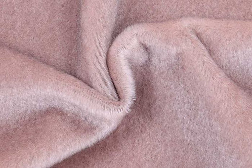 Mohair Fabric 10mm Mauve Silver Tip