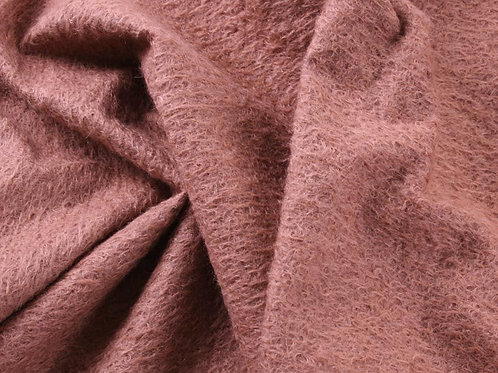 Mohair Fabric 11mm Felted Dusk Rose