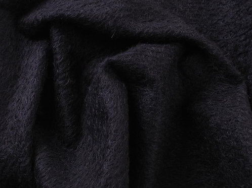 Mohair Fabric 11mm Felted Black