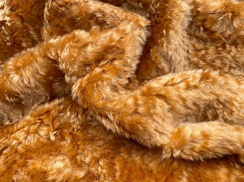 Mohair Fabric 25mm Russet Gold