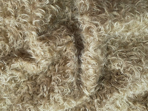 Mohair Fabric 22mm Olive Beige