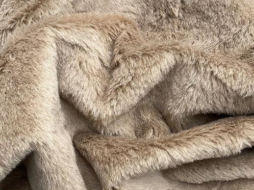 Alpaca Fur Fabric 14mm Agate Brown
