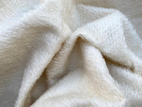 Mohair Fabric 8mm Icicle White