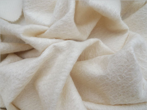 Mohair Fabric 11mm Felted Ivory