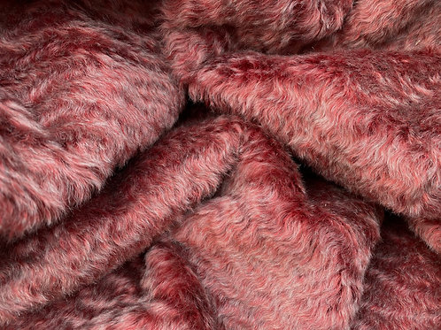 Mohair Fabric 18mm Marled Garnet Wave