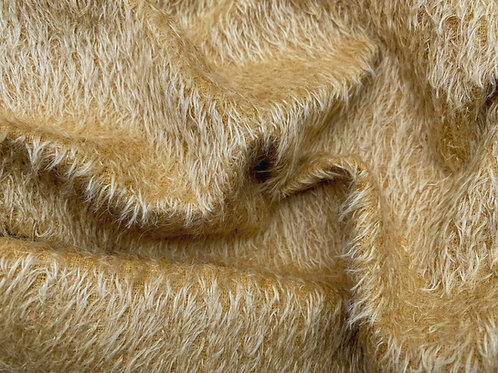 Mohair Fabric 11mm Felted Gold