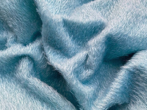 Mohair Fabric 10mm Felted Baby Blue