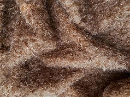 Mohair Fabric 22mm Dark Copper Beige
