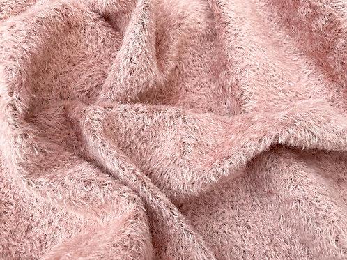 Mohair Fabric 7mm Peach Blush Tufted