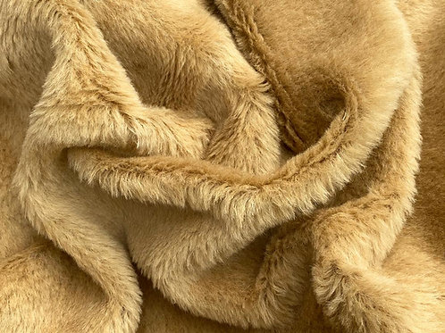 Alpaca Fur Fabric 14mm Warmest Gold