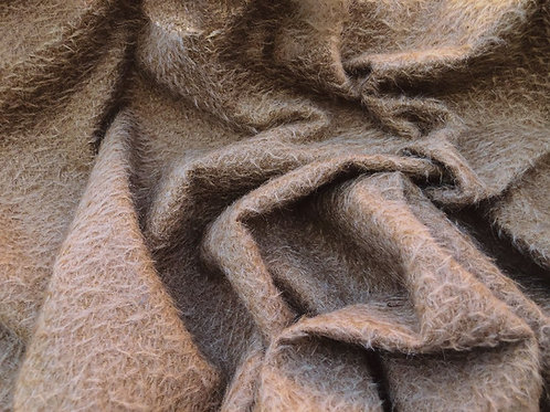 Mohair Fabric 9mm Chocolate Brown