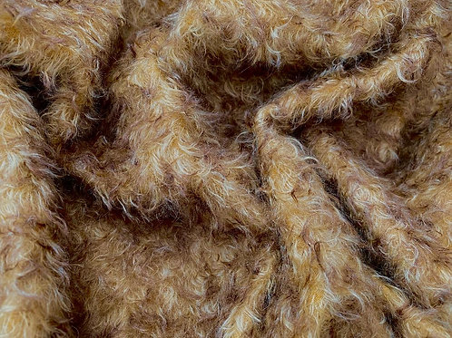 Mohair Fabric 25mm Gold Dusk