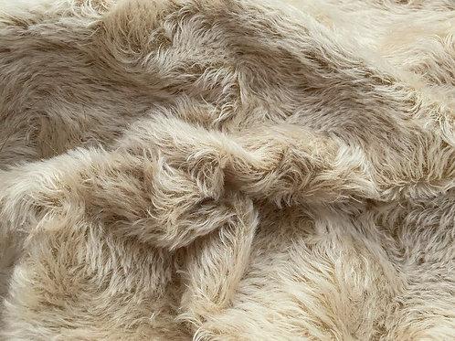 Swirl Mohair Fabric 14mm Tan