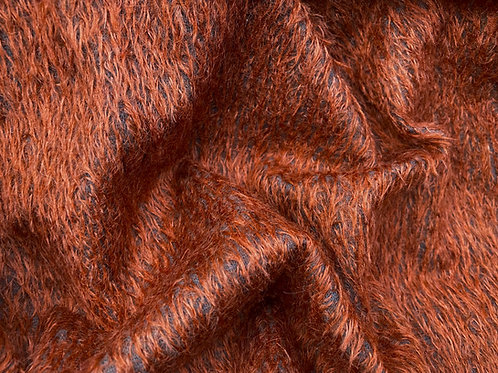 Mohair Fabric 11mm Felted Red Fox
