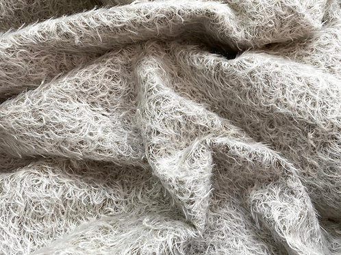 Mohair Fabric 16mm Silvery Bruin