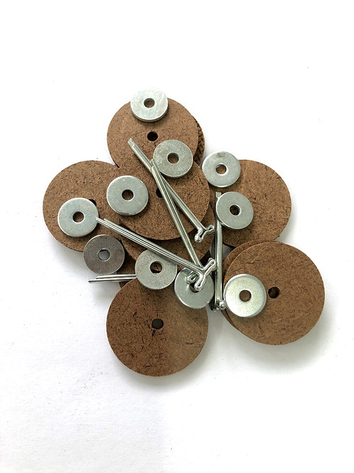 10pk Heavy Board Cotter-pin Joints