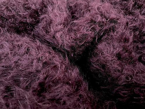 Mohair Fabric 20mm Aubergine
