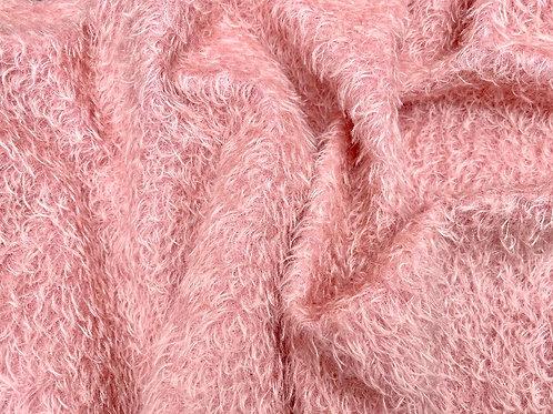 Mohair Fabric 16mm Dahlia Pink
