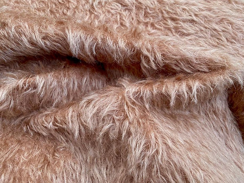 Mohair Fabric 20mm Sandstone