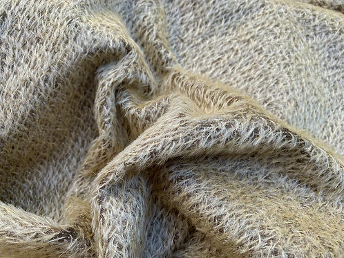 Mohair Fabric 8mm Buttermilk Brown