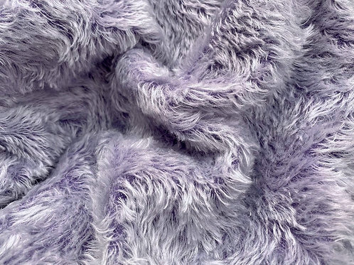 Swirl Mohair Fabric 14mm Silvery Violet