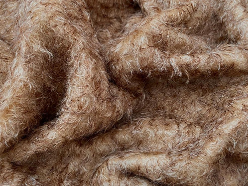 Mohair Fabric 25mm Rustic Bark