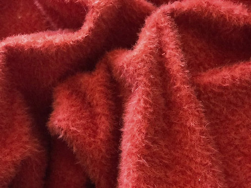 Mohair Fabric 9mm Vibrant Scarlet