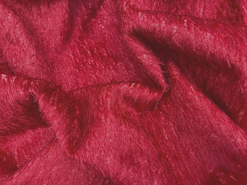 Mohair Fabric 11mm Felted Scarlet Red