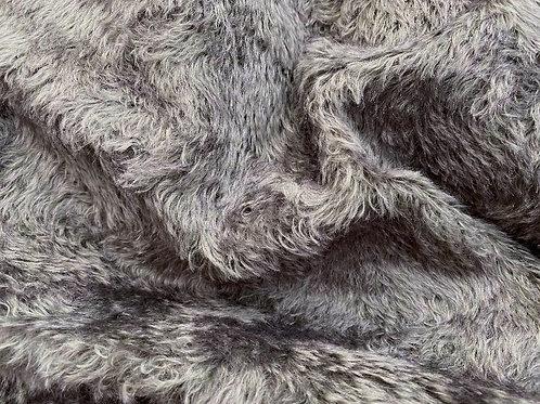 Swirl Mohair Fabric 14mm Truffle Grey