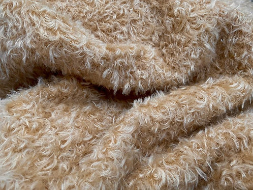 Mohair Fabric 15mm Soft Biscuit