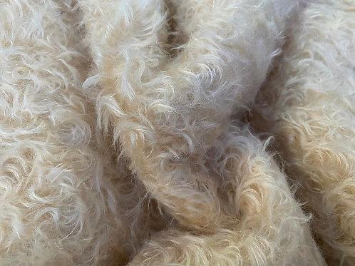 Mohair Fabric 20mm Cream Brûlée