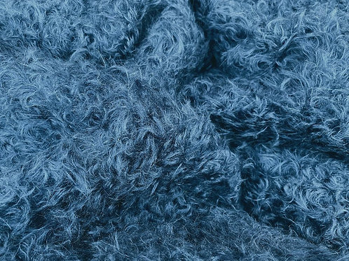 Mohair Fabric 20mm Airforce Blue