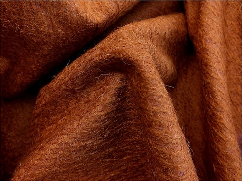 Mohair Fabric 11mm Felted Foxy Bronze