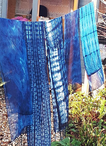 Indigo Dyed Fabrics (by Ann Simpson)