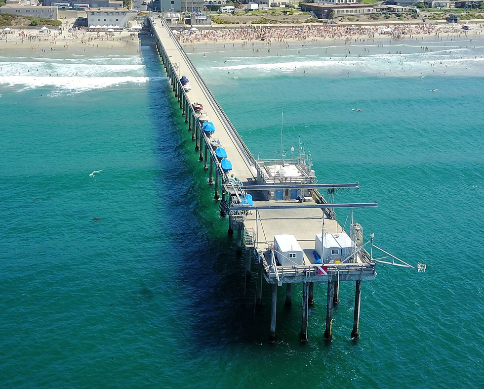 Scripps Pier Aerial Photography