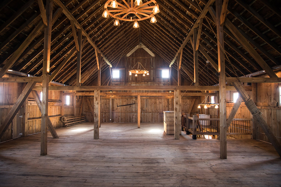Hay mow/loft barn wedding venue