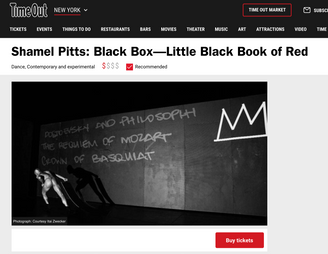 Shamel Pitts' Little Black Box of Red - in TimeOut NY