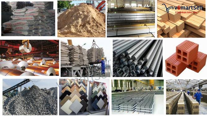 Xác định nhóm mặt hàng vật liệu xây dựng chủ đạo