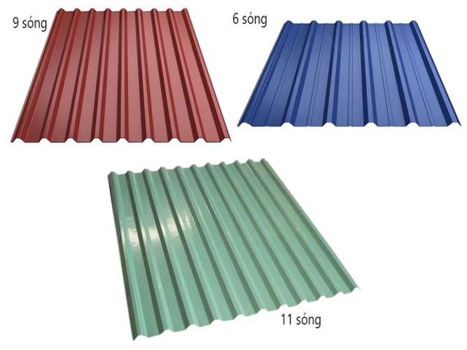 Các loại tôn lợp mái phổ biến