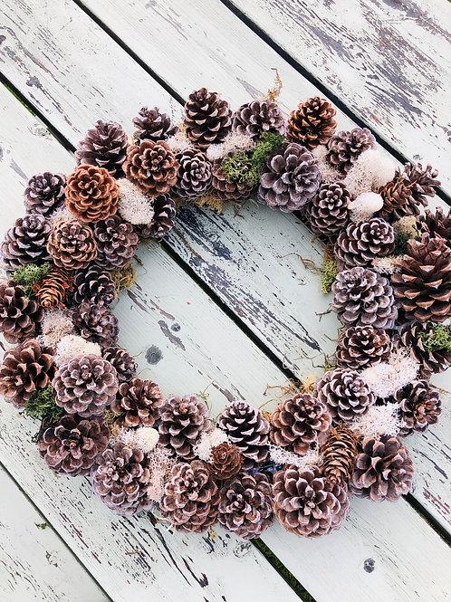 Ponderosa Pinecone Wreath