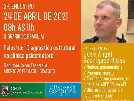 Ciclo de Psicomotricidade da UECE: José Angel Rodríguez Ribas é o convidado de abril