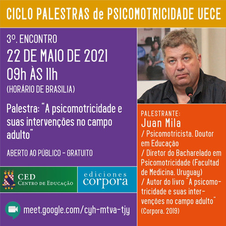 Ciclo de palestras da UECE: Juan Mila é o convidado de maio